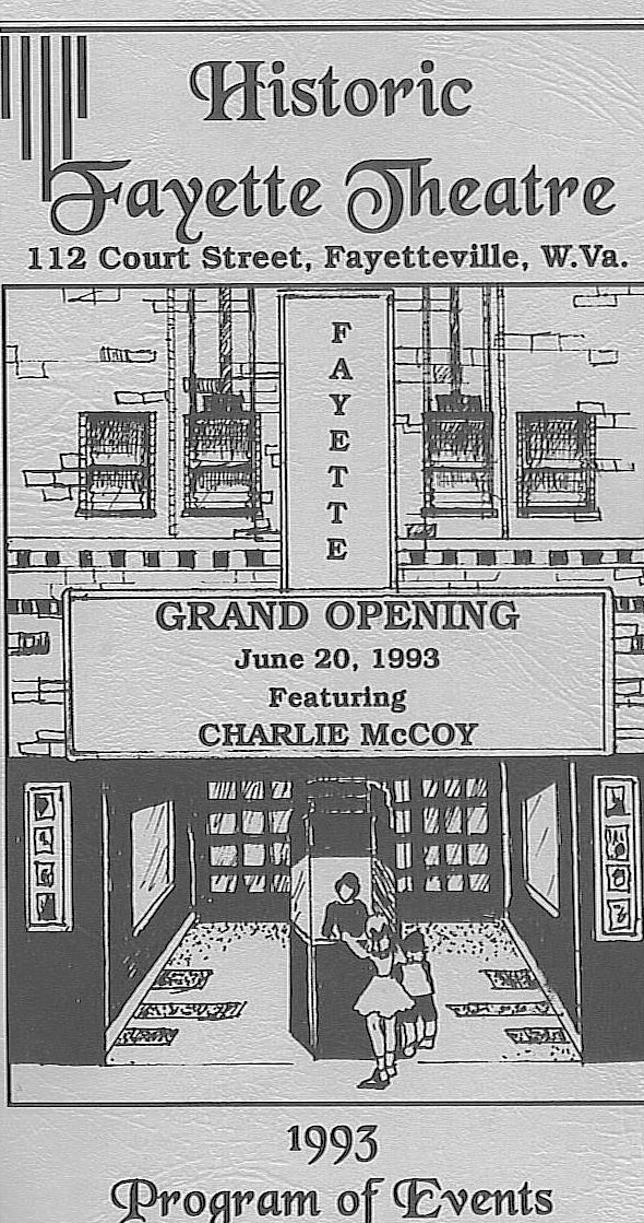 Flyer for the grand re-opening of the theater in 1993.