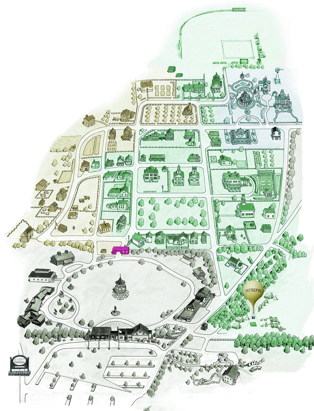 Map of the museum grounds