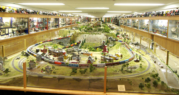 The large model train layout