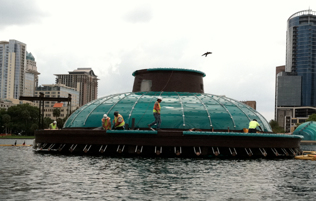 The fountain undergoing renovations in 2011. Image obtained from The Daily City.
