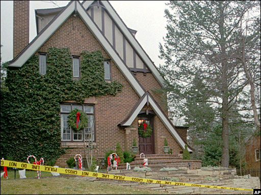 The Ramsey home undergoing investigation