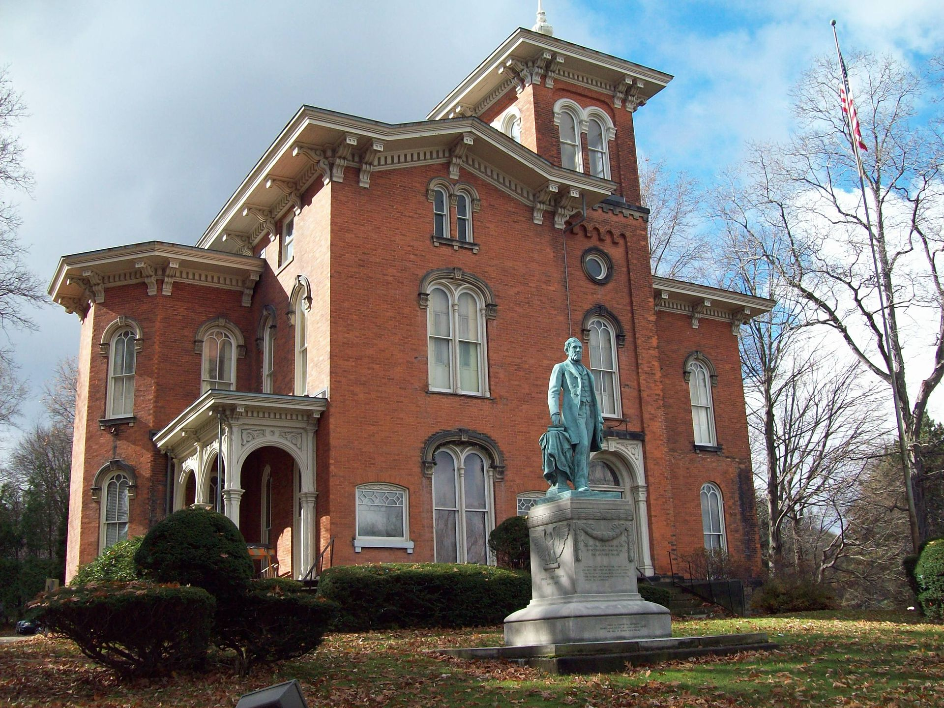 The Gov. Reuben Fenton Mansion was built in 1863 and has been home to the Fenton History Center since 1964.