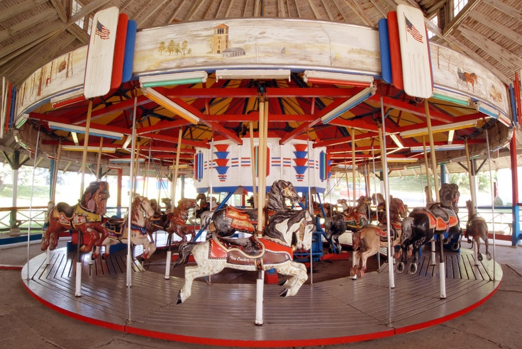 The vintage 1948 carousel.