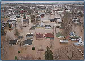 Williamson, West Virginia during the flood.