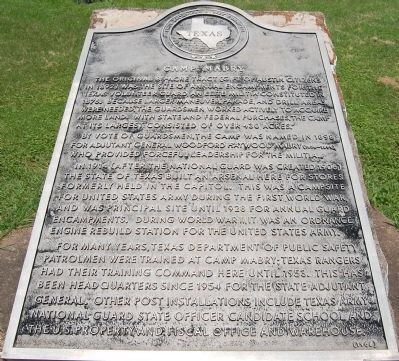 Camp Mabry marker