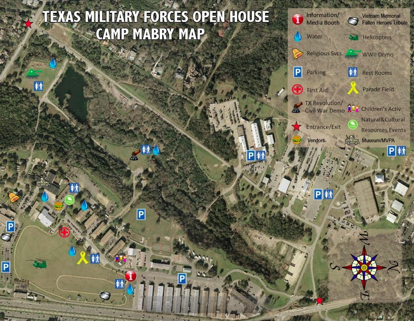 Map of Camp Mabry