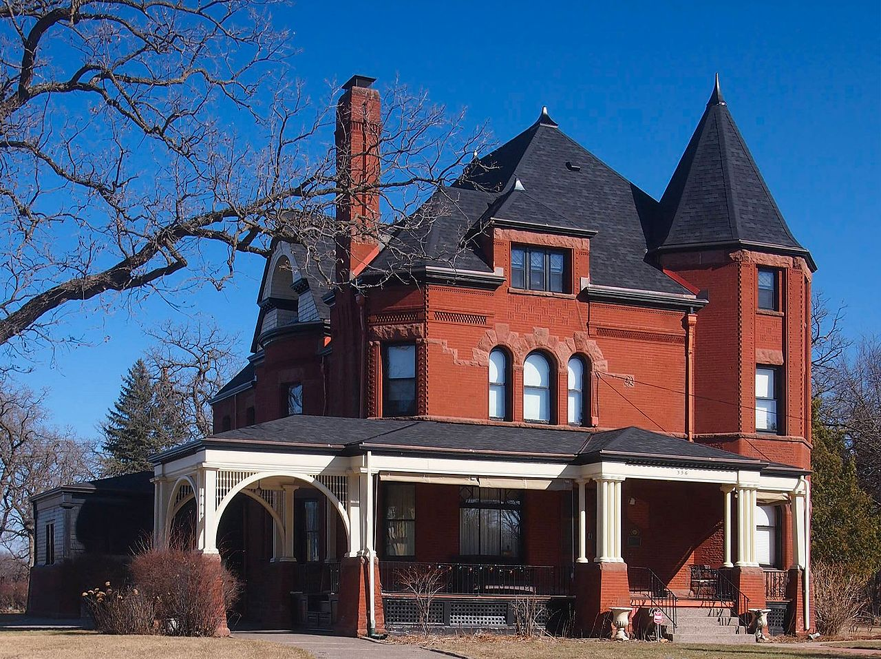 The Nehemiah P. Clarke House is a fine example of Queen Anne architecture and was built in 1893.