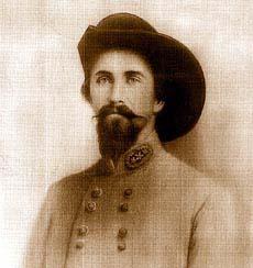 Photo of John Hunt Morgan, the leader of Morgan's Raid.