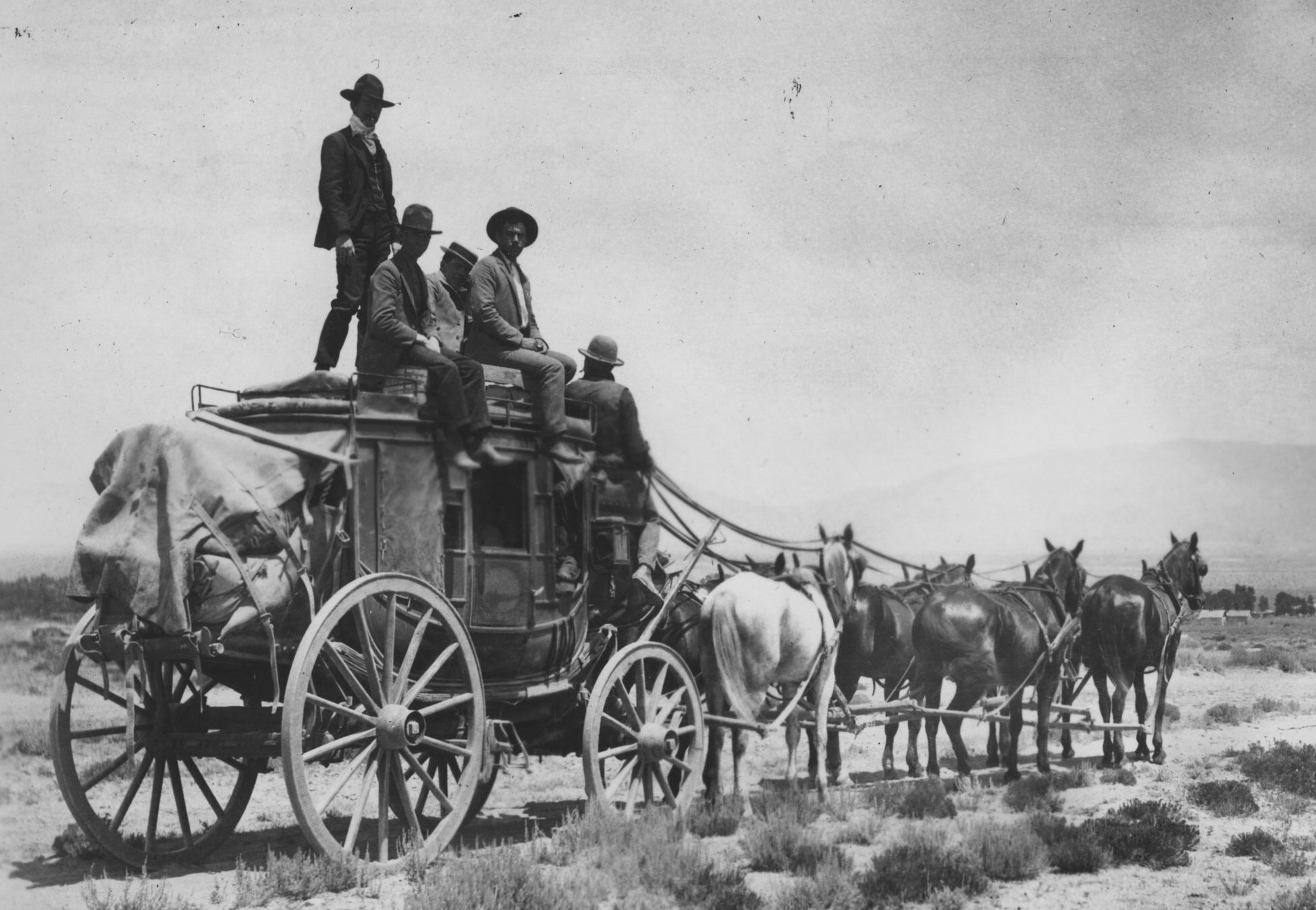 Stagecoach similar to what would have been used on the Butterfield Overland Mail Trail