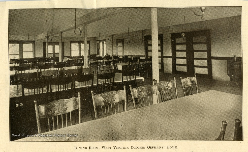 Dining Room at the West Virginia Colored Orphan's Home