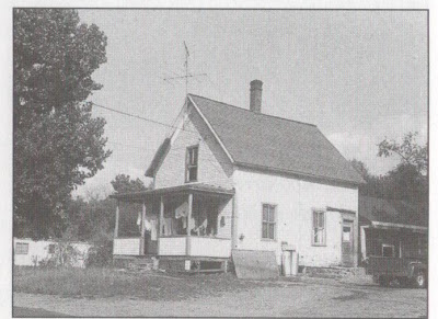 What is believed to be his home in West Lebanon as it looked in the 1960s before it was torn down so that a gas station could be constructed.