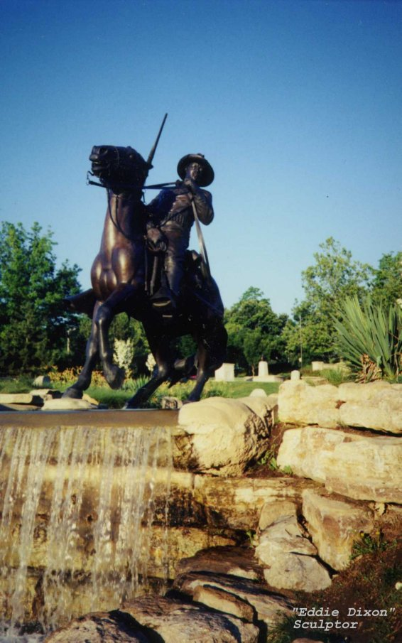 Buffalo soldiers monument at Fort Leavenworth, Kansas