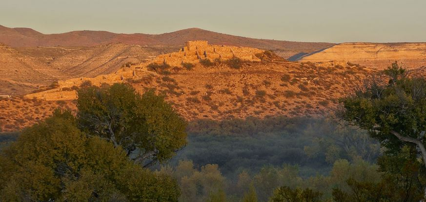 Tuzigoot at sunrise.
