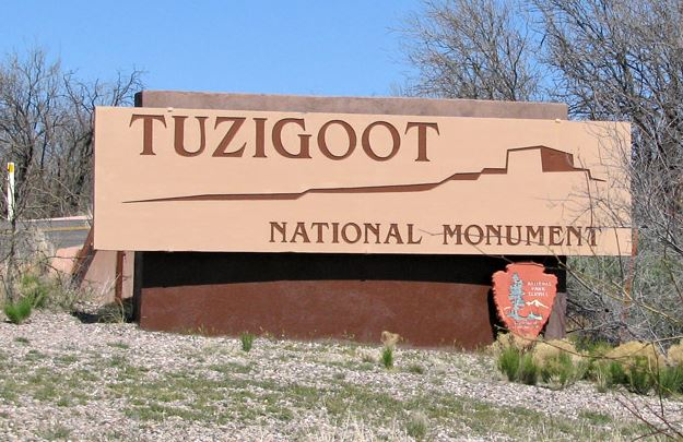 The entrance to Tuzigoot.