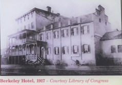 Photo of the former Berkeley Hotel as it appeared in the 1860s