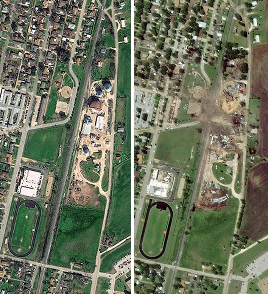 West, Texas Before and After