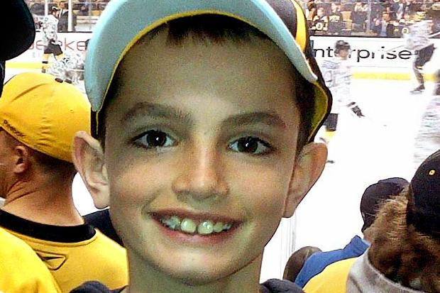 Martin Richard, age 8, was at the finish line eagerly waiting for his father to complete the race. There is a bronze statue of Martin on the campus of Bridgewater State University, the college where his parents met each other.
