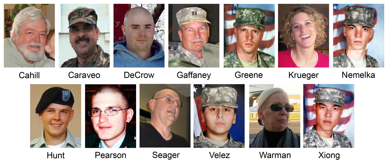 Thirteen people died in the 2009 shooting.