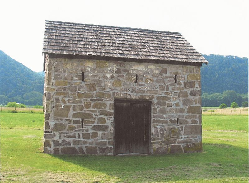 Fort Van Meter, Hampshire County, West Virginia (built ca. 1754).