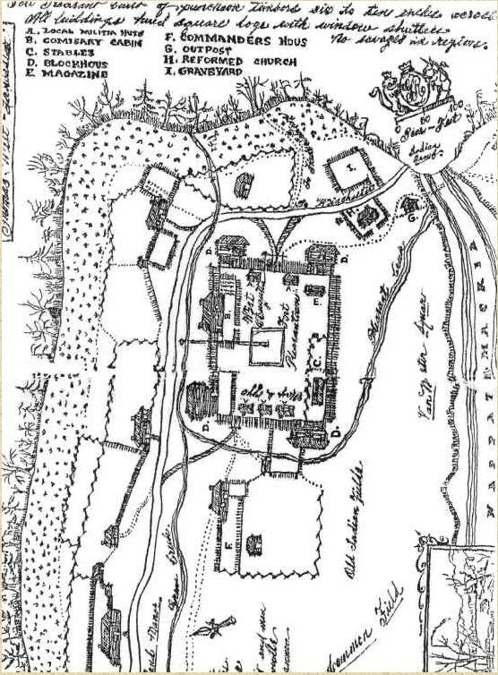 map of Fort van Meter