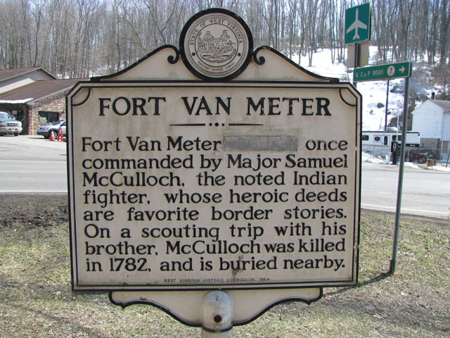 Historical marker for the fort.