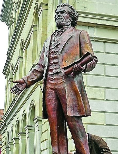 Pierpont statue found at West Virginia Independence Hall in Wheeling. Unveiled on June 20th, 2015