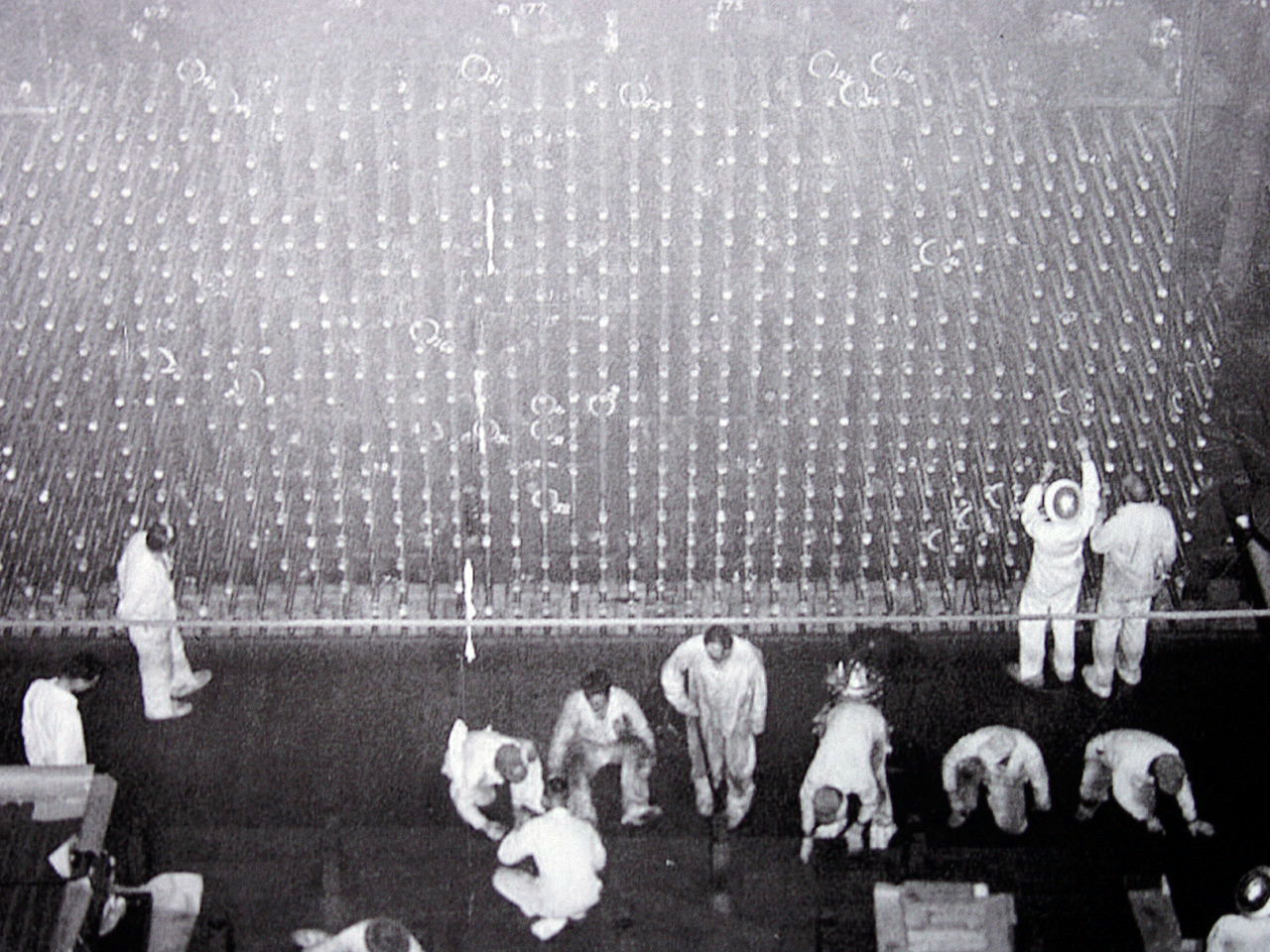 Men working at the reactor