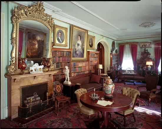 Interior view of one of the many stately rooms in the house.