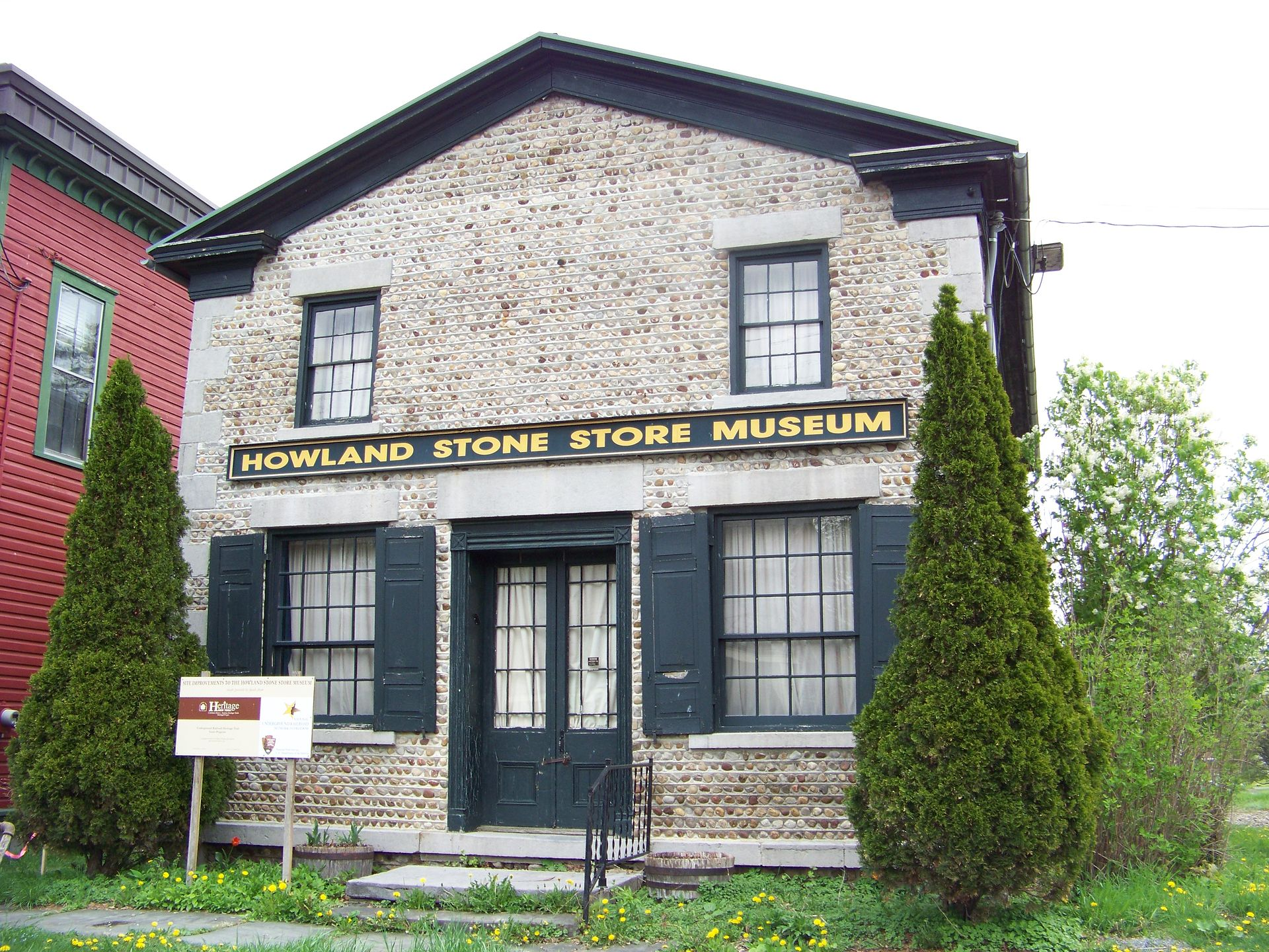 The Howland Stone Store Museum is listed the National Register of Historic Places for both its architecture and association with the abolitionist and suffragist movements.