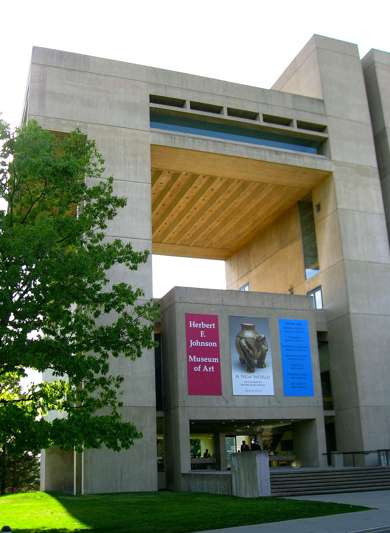 The Herbert F. Johnson Museum of Art was built in 1968 and expanded in 2001. It houses a large collection of 35,000 works of art from around the world.