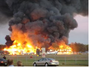 This fire on October 9, 2004, destroyed the historic hangar housing the Museum. Volunteers at the museum saved three of the historic planes from the fire and have worked to rebuild the museum in the past decade.