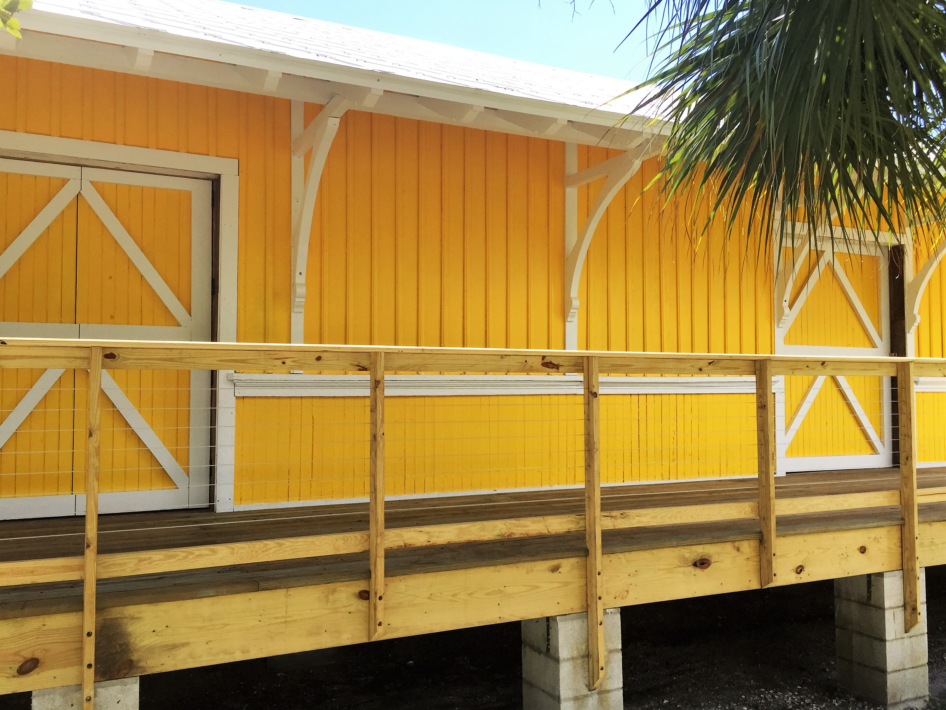 The Historic Train Depot was moved to Sawfish Bay Park in the early-morning hours of April 15, 2012.    It is back home in Jupiter, very close to its original location, and now the restoration work on this historic building can begin.