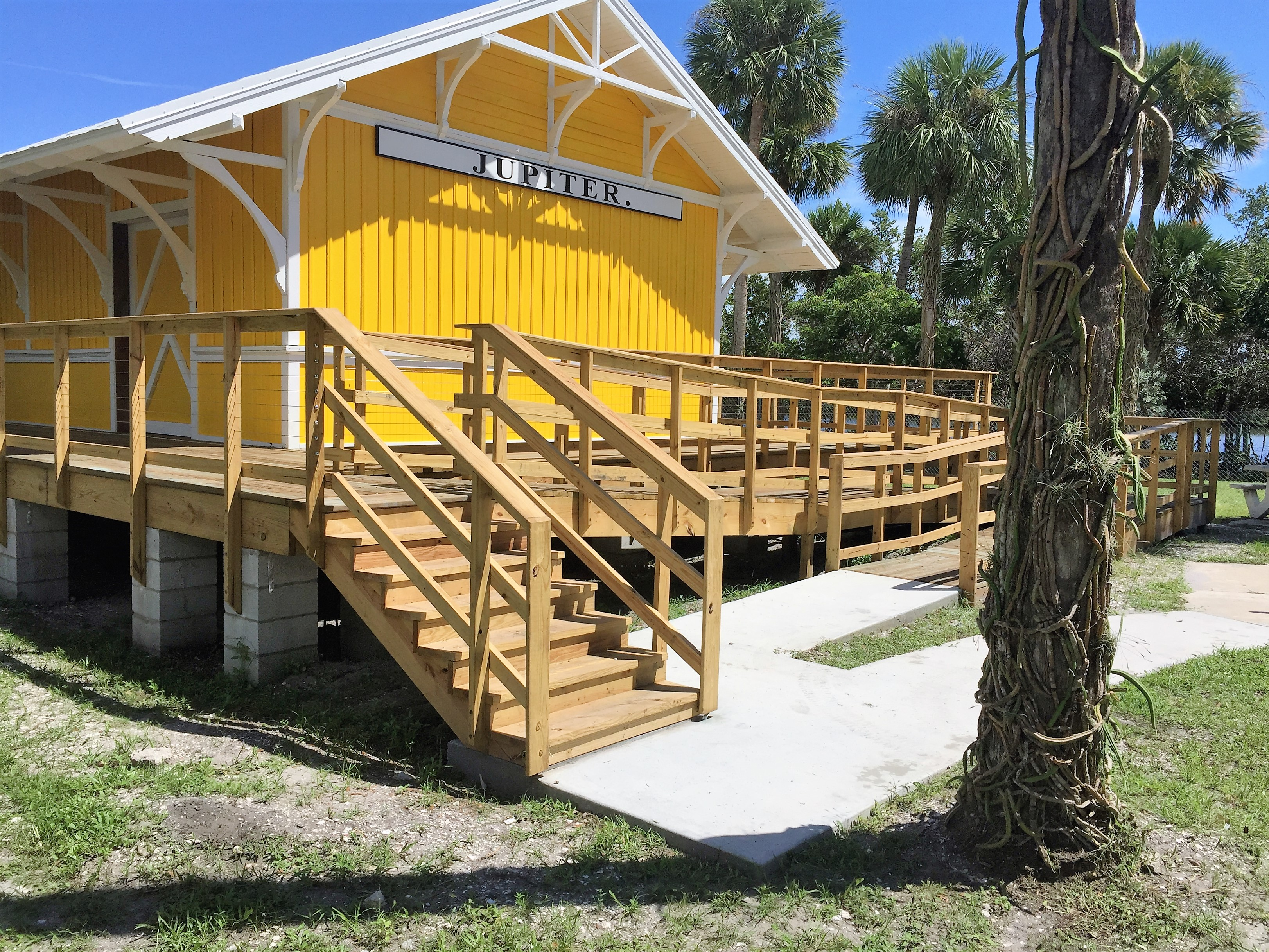 Southern heartwood pine from North Florida, diamond-shaped shingles and hardware similar to what was used a century ago are all part of the restoration of the former Henry Flagler railroad depot at Sawfish Bay