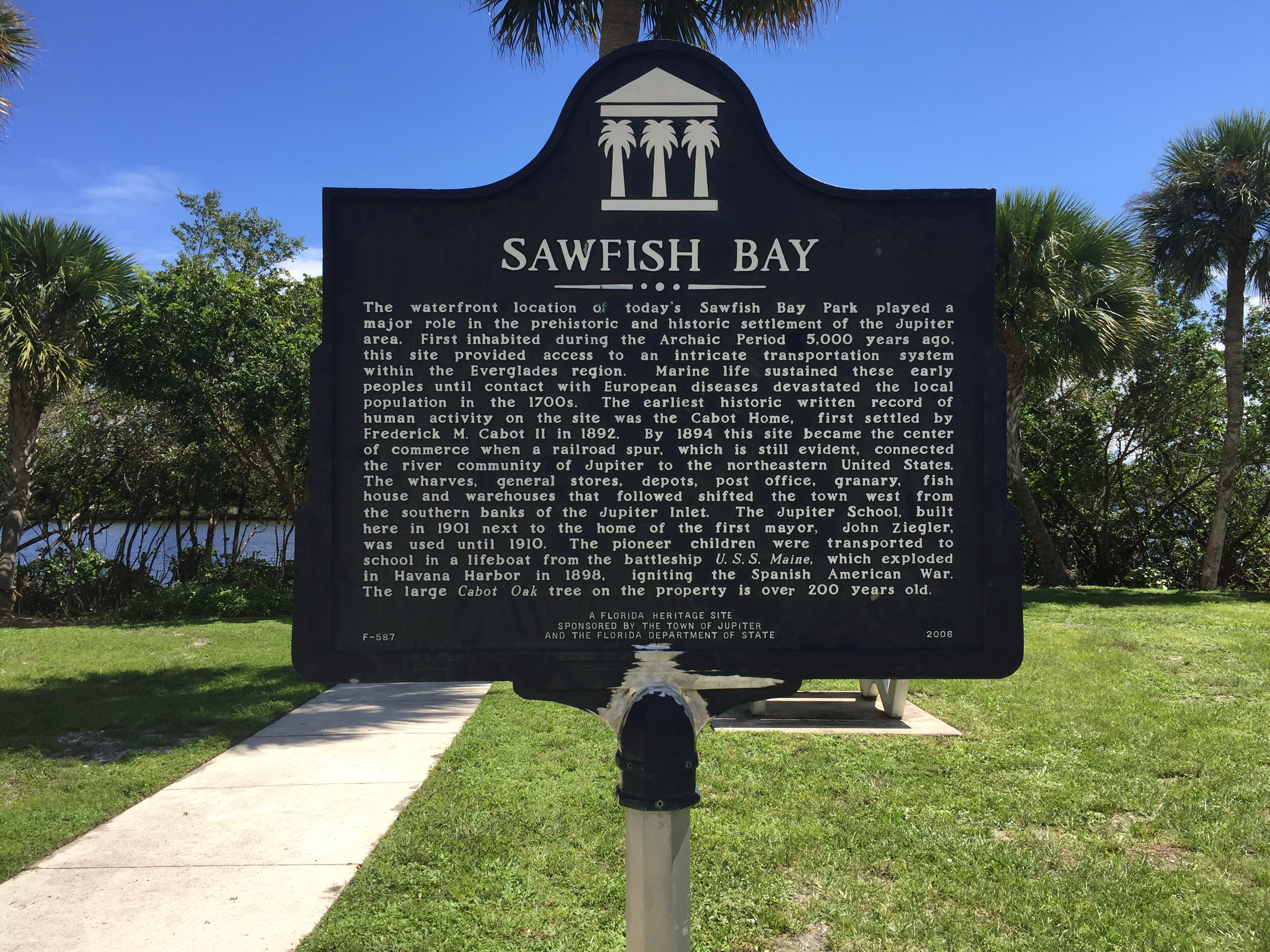 Established 25 Jan 1838 during the Second Seminole War by General Thomas S. Jesup and used to imprison more than 600 captured Seminole Indians during 1836.    The prisoners were transported to Fort Brooke (Tampa) and, from there, were finally transporte