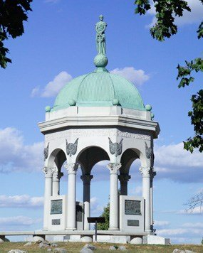 President William McKinley delivered the keynote at this monument's dedication ceremony in 1900.
