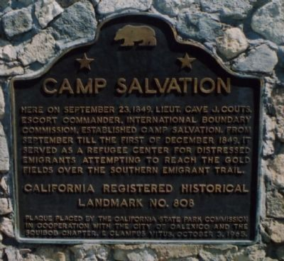 The California State Park Commission dedicated this historic marker in 1965