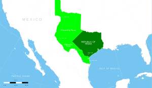 Map of the Texas Republic