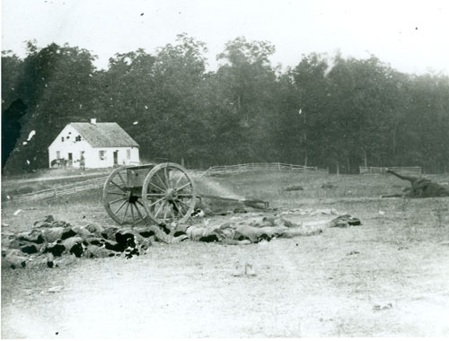 Dunker Church in the aftermath of the Battle of Antietam