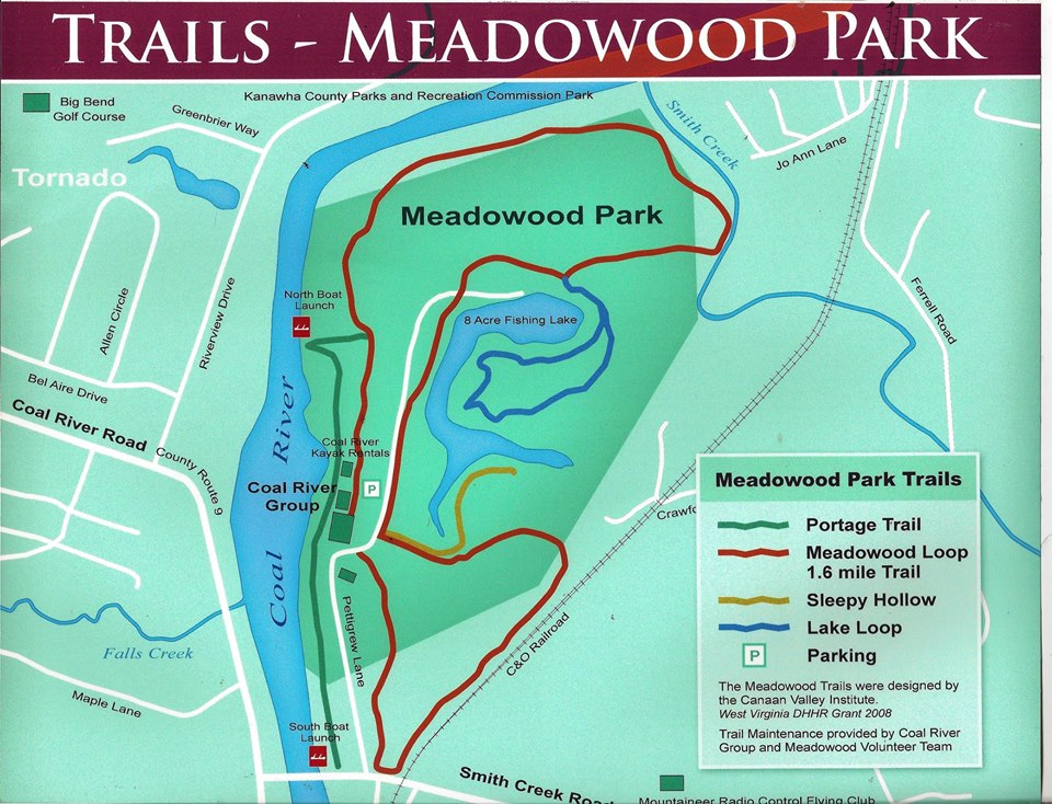Meadowood Park's trails.