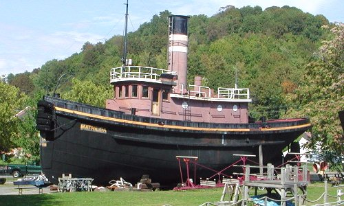 The tugboat, Mathilda, one of the few tugboats left with its original engine intact