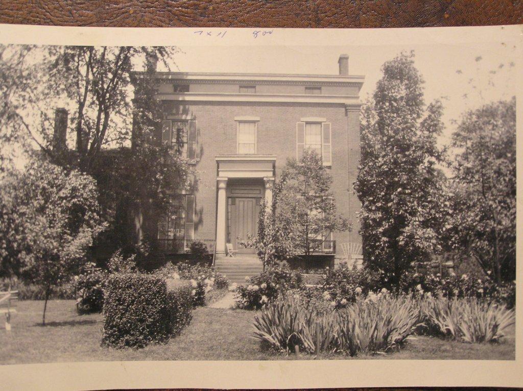 Exterior facing south, cir. 1920 (Lemon Collection)