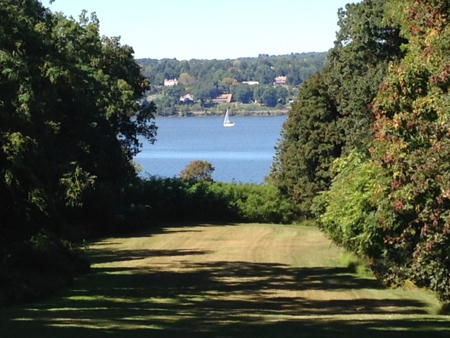 The view of the Hudson River from Mount Gulian
