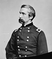 Joshua Lawrence Chamberlain, the Union hero of Gettysburg was injured at this location during the Siege of Petersburg