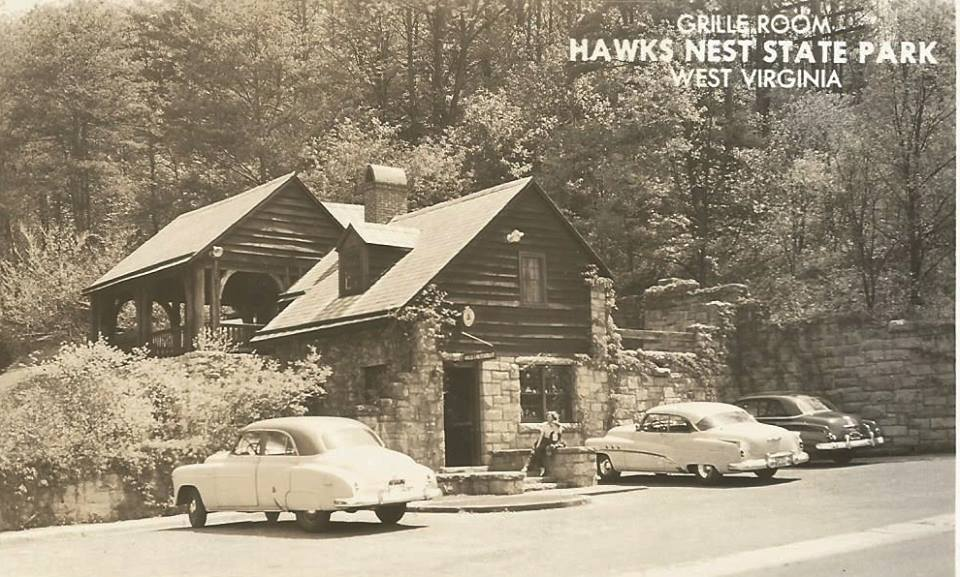 The Grille Room and Souvenir Store at nearby Hawks Nest State Park contrasts with the deadly history of the Tunnel's construction.