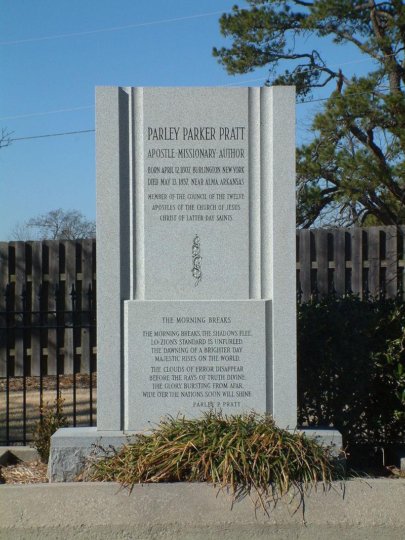 Parley P. Pratt gravesite in Arkansas