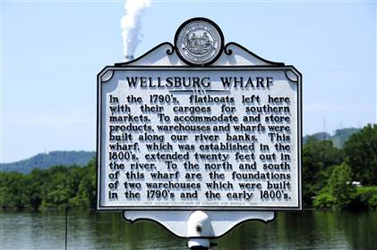 Wellsburg is home to one of the few remaining and best-preserved examples of a 19th-century river wharf.