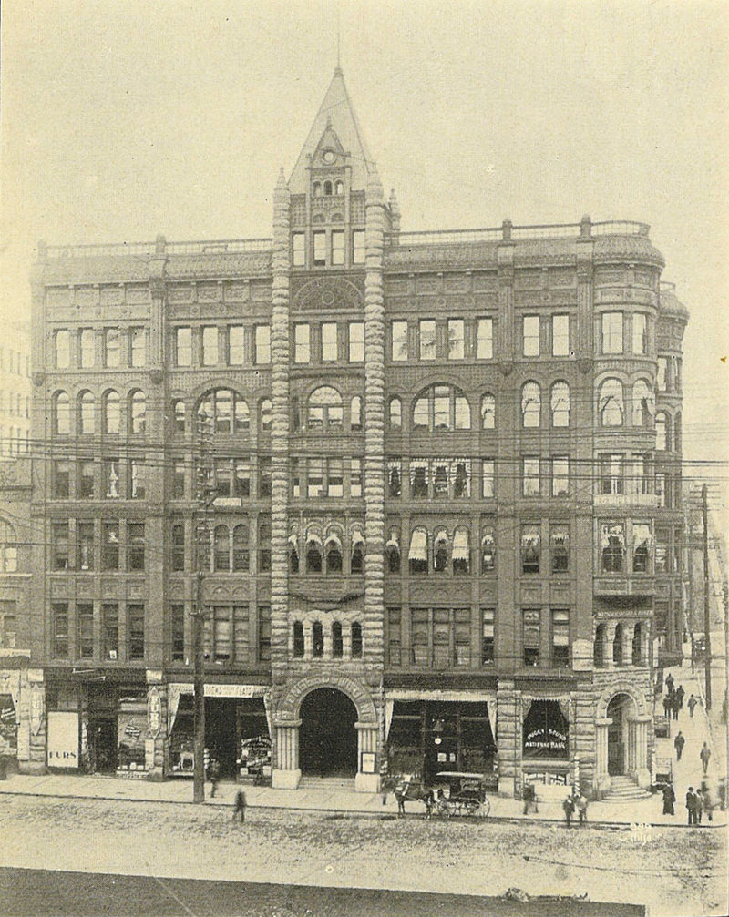 This photo of the Pioneer Square Building was taken about a decade  after its completion.