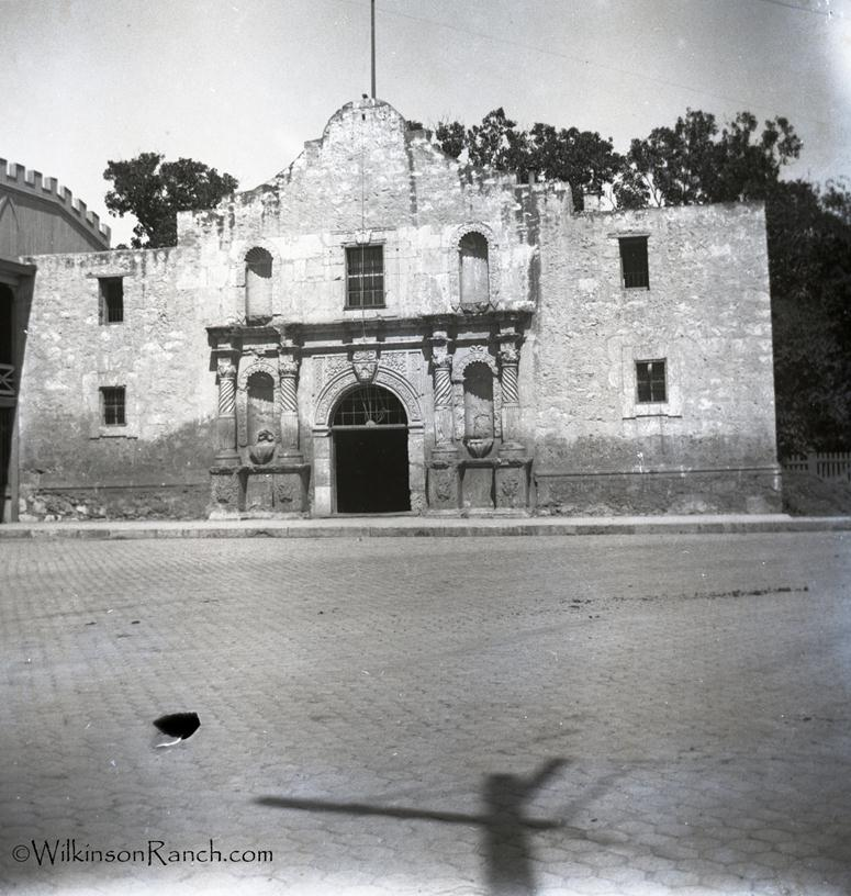 Driscoll also stepped in to purchase lands around the Alamo Mission, depicted here in the late 19th century.