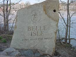 Sign for Belle Isle park