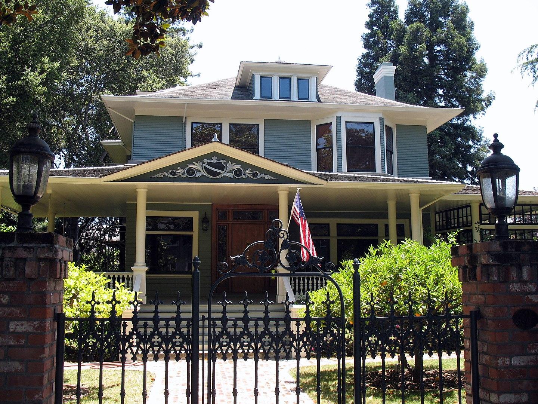 Wilson House (Peck-Wilson House) in Palo Alto. Photo taken in 2012.